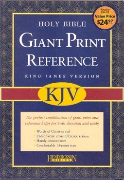 GIANT PRINT REFERENCE BIBLE