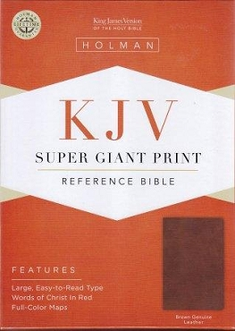 SUPER GIANT PRINT REFERENCE BIBLE