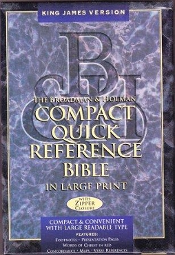 COMPACT QUICK REFERENCE BIBLE IN LARGE PRINT